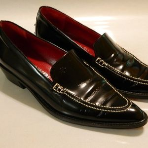 DONALD J PLINER Loafers Shoes ITALY Leather 7.5M